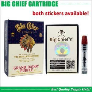 Big Chief empty vape cartridges bulk empty carts with packaging 510 thread empty vape pen