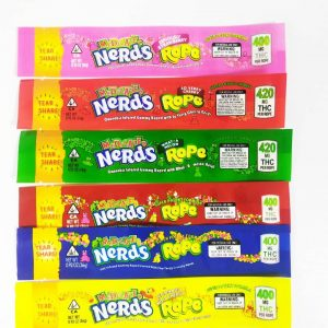 Medicated Nerds Rope empty weed bag bulk for gummy and candy